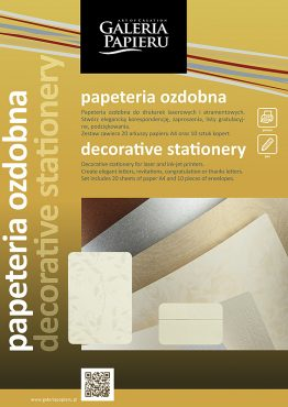Decorative Stationery Set Cream A4 Millenium + DL Roses