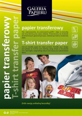 Transfer Paper A4 for dark-coloured materials
