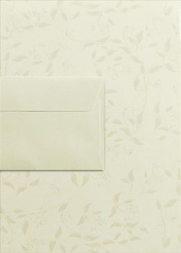 Decorative Stationery Set Cream A4 Liana + DL Millenium