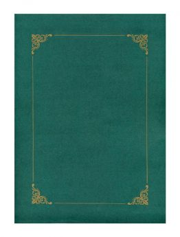 Folder Green with Gold Frame