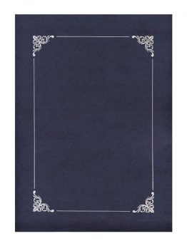 Folder Navy Blue with Silver Frame