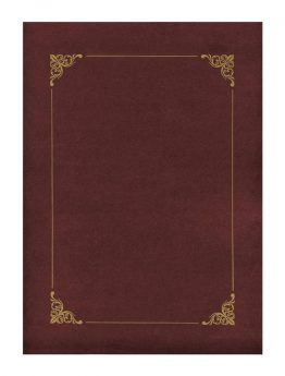 Folder Bordeaux with Gold Frame