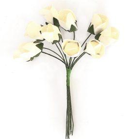 Kwiaty bukiecik Tulipany biały