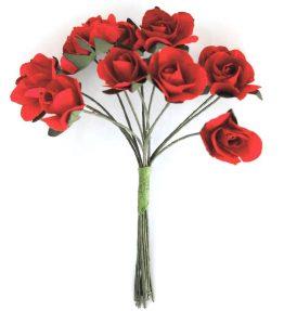 Kwiaty bukiecik Róże czerwony