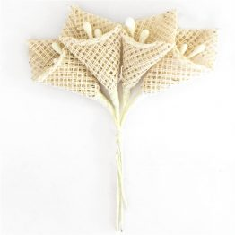 Fabric Flowers Calla Beige