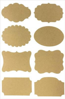 Self-adhesive Kraft Labels