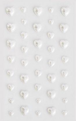 Perełki Serca białe