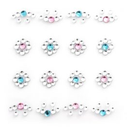 Rhinestones Flowers blue