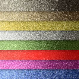 Glitter self-adhesive card paper mix colours