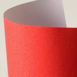 Glitter self-adhesive card paper red