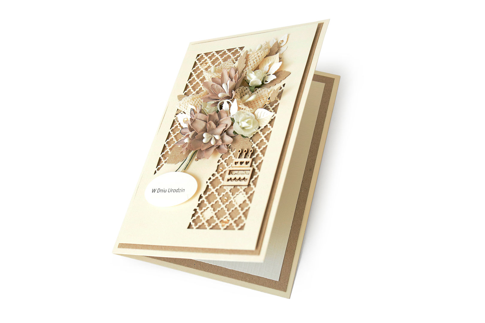 A card with a bunch of flowers