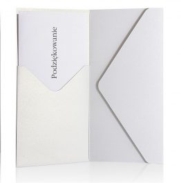 Decorative Envelope Pearl White DL/SP