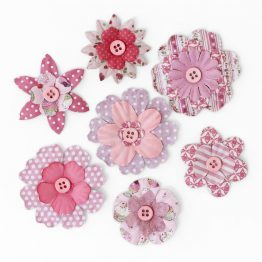 Paper Flowers with a Button