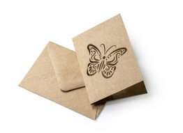 Dark Beige Kraft Butterfly Kit (carnet+envelope 70x100mm)