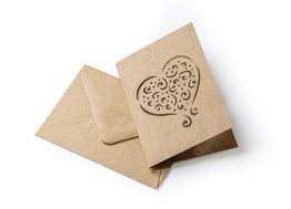 Dark Beige Kraft Heart Kit (carnet+envelope 70x100mm)