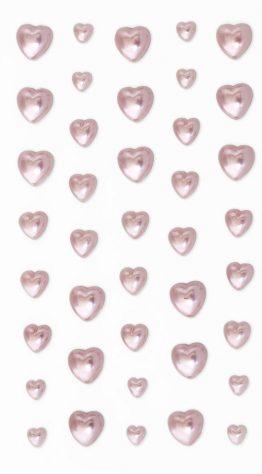 Perełki Serca różowe