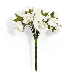 Kwiaty bukiecik Róże kremowy