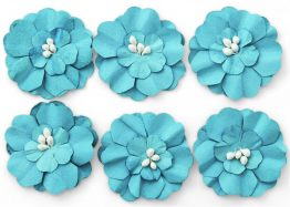 Paper Flowers Zinnia blue