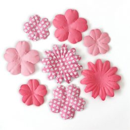 Paper Flowers Blossom mix pink