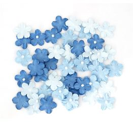 Paper Flowers Forget-Me-Nots with a Pearl Blue