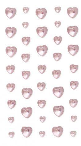 Жемчужины Сердца розовый