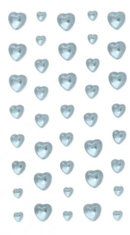 Pearls Hearts blue
