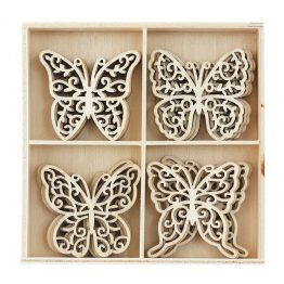 Wooden Elements Butterflies
