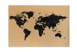 Tablica korkowa Mapa Świata 60x40cm