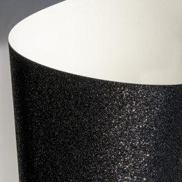 Glittered card paper black