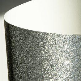Karton brokatowy srebrny