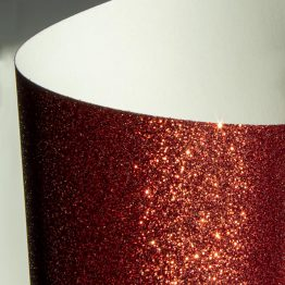 Glittered card paper red