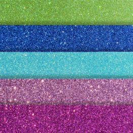 Glittered card paper mix colours