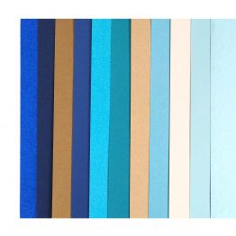 Zestaw kreatywny kartonów A4 – mix niebieski