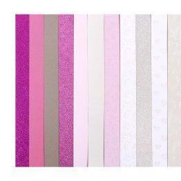 Zestaw kreatywny kartonów A4 – mix różowy