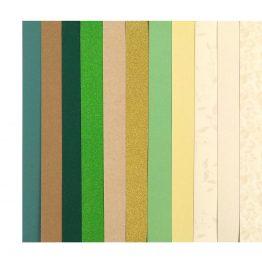 Zestaw kreatywny kartonów A4 – mix zielony