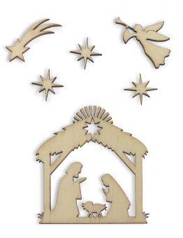 Cutted Decorations Nativity Scene