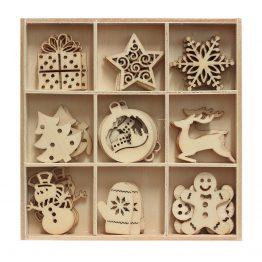 Набор декораций деревянных Зимние Праздники 3