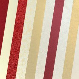 Набор картона декоративного Микс Элегантный Красный