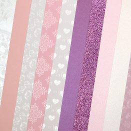 Набор картона декоративного Микс Розовые Тонации