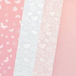 Karton mix 4 wzory – Pastelowy Róż