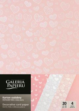 Набор картона Микс 4 видов — Пастельный Розовый