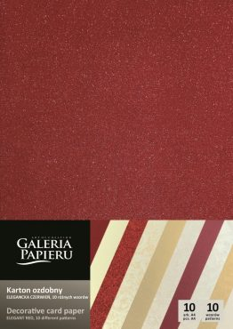 Karton mix 10 wzorów – Elegancka Czerwień