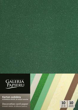 Karton mix 10 wzorów – Elegancka Zieleń