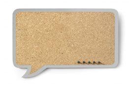 Tablica Dymek prostokątny 44x29cm – szara obwódka